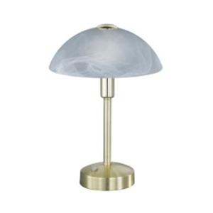 TRIO LED Tischlampe DONNA messingfarbig /alabasterweiß
