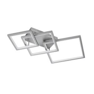 WOFI LED Deckenlampe VISO 120 x 72 cm nickelfarbig