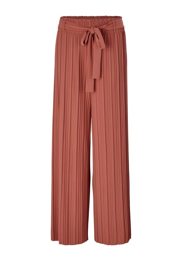 Damen Regular Fit: Plissee-Hose mit Gürtel