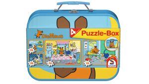 Schmidt Spiele - Kinderpuzzle - Die Maus, Puzzle-Box im Metallkoffer, 48 Teile