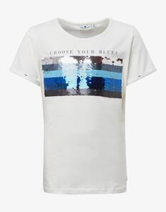 Girls T-Shirt mit Paillettenbild