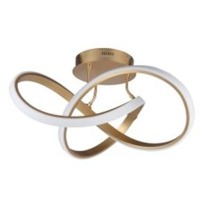 WOFI LED Deckenlampe INDIGO 59 cm Metall goldfarbig matt