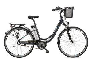 Telefunken Damen City E-Bike RC865 Multitalent mit 3-Gang Shimano Nexus Nabenschaltung Anthrazit