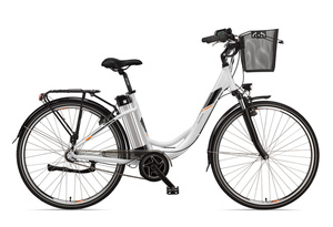 Telefunken Damen City E-Bike RC865 Multitalent mit 3-Gang Shimano Nexus Nabenschaltung Weiß