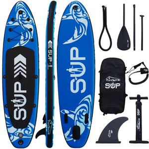 Standup Paddle Board SUP, inkl. umpfangreichen Zubehör, Paddel und Hochdruckpumpe, Farbe Blau in Grö