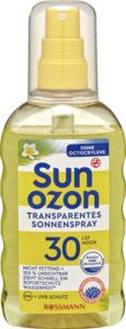 Sunozon Transparentes Sonnenspray LSF 30