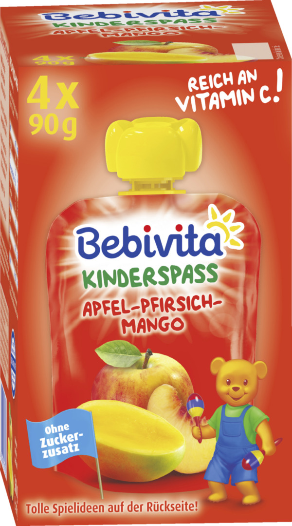Bebivita Kinder Spaß Apfel-Pfirsich-Mango