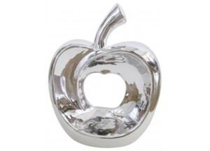 Deko-Apfel silber
