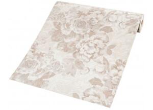 Vinyltapete Muster Blume braun