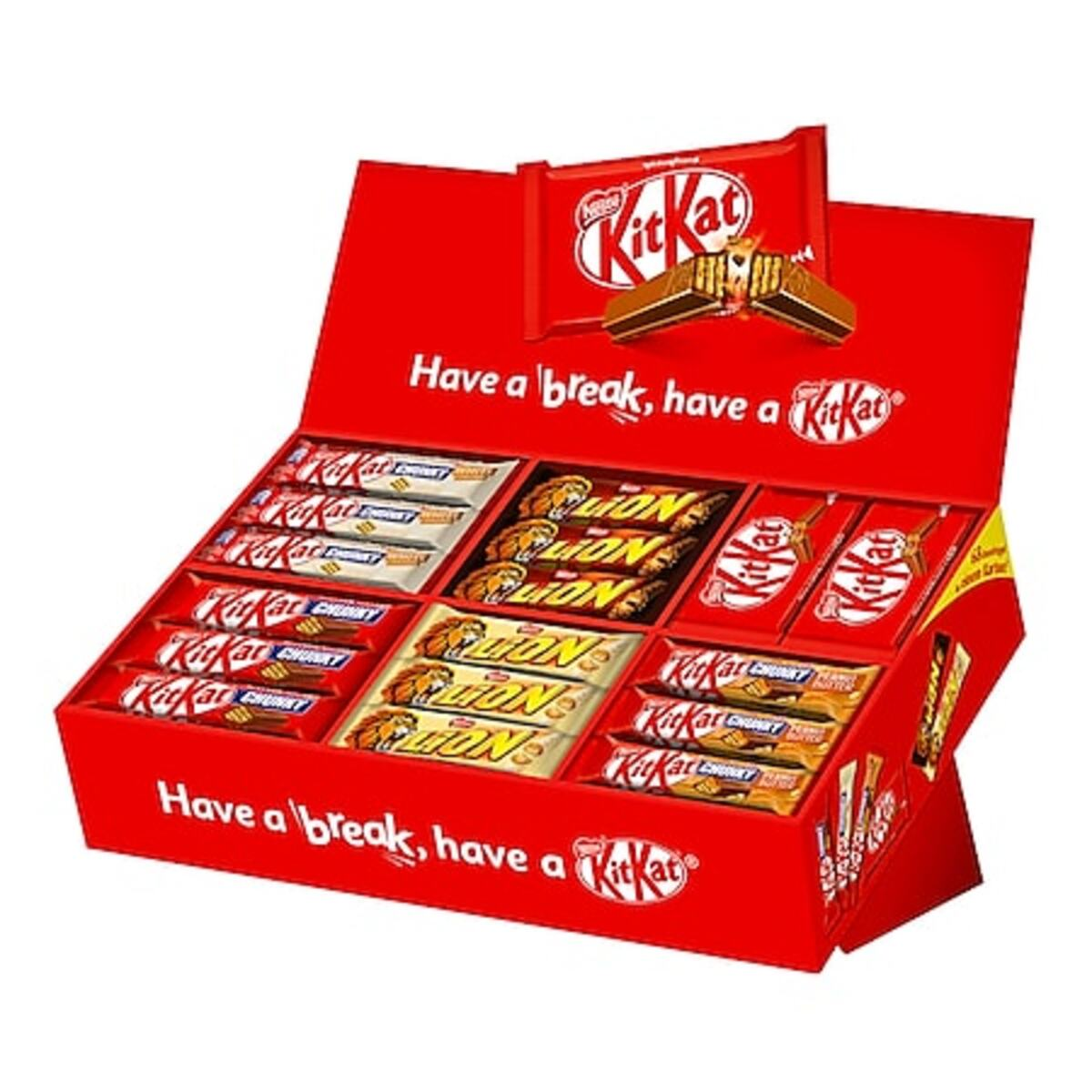 Bild 1 von Kit Kat Box 40-42 g, verschiedene Sorten, 68er Pack 2801 g