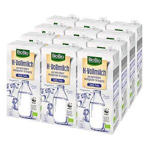 BioBio H-Milch 3,8 % 1 Liter, 12er Pack