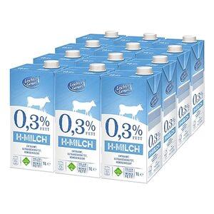 Leichter Genuss H-Milch 0,3% 1 Liter, 12er Pack