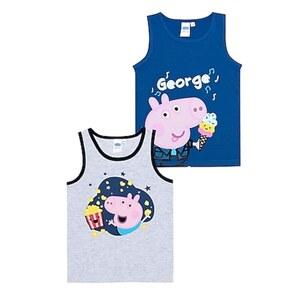 Kinder Lizenz Unterhemden 2er - Peppa Pig für Jungen - Gr. 110/116
