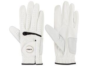 CRIVIT® Golf Handschuhe aus PU, mit Magnet-Ballmarker und mit verstärktem Handballen