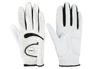 CRIVIT® Golf Handschuhe aus Lammleder, mit Magnet-Ballmarker und mit verstärktem Handballen