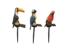 MELINERA® Gartenstecker Vögel, mit Solar LED