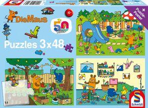 Schmidt Puzzle Ein Tag mit der Maus 3x48T