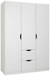 Drehtürenschrank in Weiß ca. 136x197x54cm