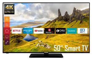 Telefunken 4K Ultra HD LED TV 126cm (50 Zoll) D50U551N1CW, Triple Tuner, Smart TV, HDR10
