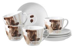 Cappuccinotasse mit Untertasse Latte Macchiato, 4-teilig