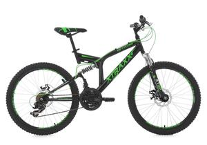 Kinder-Mountainbike 24 Zoll  Fully Xtraxx (schwarz-grün)