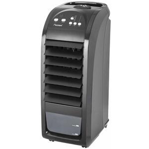 Bestron Mobiler Luftkühler mit Fernbedienung, Dauernutzung von max. 20h, 70 W, Schwarz