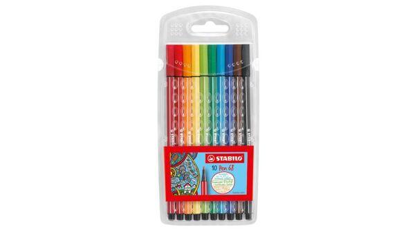 STABILO Premium Fasermaler Pen 68 im 10er-Kunststoffetui