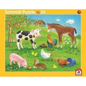 Rahmenpuzzle - Kuschelige Tierfreunde und Tierkinder - 2er Set