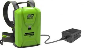 Greenworks Rücken-Trageakku 80 V 12,5 Ah, optimale Gewichtsverteilung
