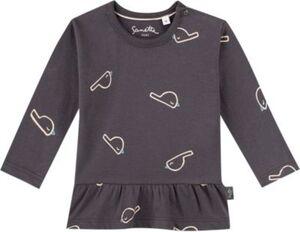Baby Langarmshirt , Organic Cotton grau Gr. 80 Mädchen Kinder