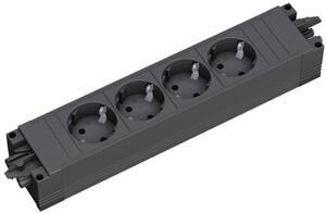 Bachmann 336.604 4fach Steckdosen-Modul ohne Schalter Schwarz