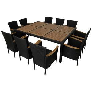 XXXLutz Gartentischgruppe akazie schwarz akaziefarben  Lena