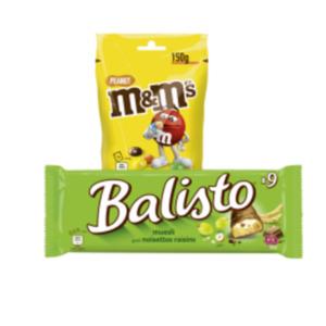Balisto Riegel, Milky Way, Bounty, M&M's oder Matesers