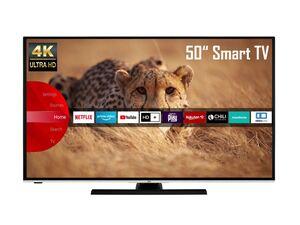 JVC LT-50VU6985 50 Zoll  Fernseher (Smart TV, Prime Video / Netflix, 4K UHD mit Dolby Vision HDR / HDR 10, Bluetooth, Triple-Tuner, HD+)