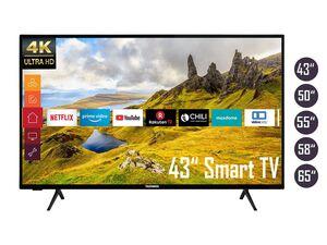 TELEFUNKEN 4K Fernseher / Smart TV (Prime Video / Netflix, UHD mit Dolby Vision HDR / HDR 10, Bluetooth, Triple-Tuner, HD+)