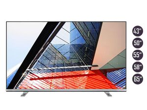 TOSHIBA 4K UHD Fernseher (Smart TV, Prime Video / Netflix, Dolby Vision HDR / HDR 10, Bluetooth, Triple-Tuner)