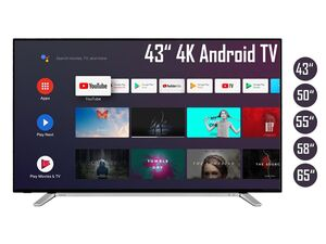 TOSHIBA Android TV Fernseher (Smart TV, 4K UHD mit Dolby Vision HDR / HDR 10, Bluetooth, Triple-Tuner)