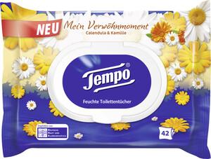 Tempo Calendula & Kamille Feuchte Toilettentücher 42 Stück