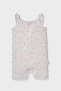 C&A Baby-Jumpsuit-Bio-Baumwolle, Weiß, Größe: 62