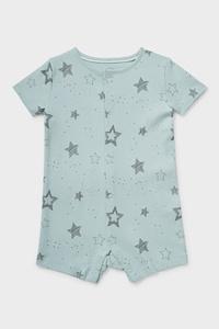 C&A Baby-Schlafanzug-Bio-Baumwolle, Grün, Größe: 62
