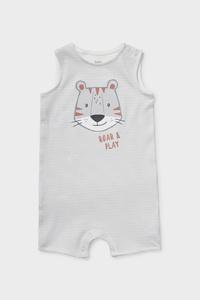 C&A Baby-Schlafanzug-Bio-Baumwolle-gestreift, Weiß, Größe: 62