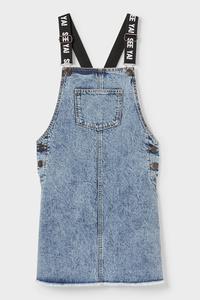 C&A Jeans-Latzkleid, Blau, Größe: 170