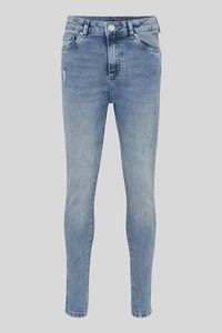 C&A Super Skinny Jeans-Bio-Baumwolle, Blau, Größe: 146