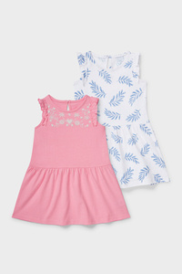 C&A Multipack 2er-Baby-Kleid, Weiß, Größe: 62