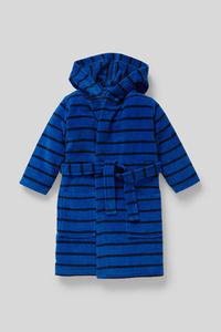 C&A Bademantel-Bio-Baumwolle-gestreift, Blau, Größe: 92