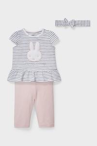 C&A Miffy-Baby-Outfit-Bio-Baumwolle-3 teilig, Weiß, Größe: 62