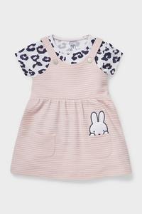 C&A Miffy-Baby-Outfit-Bio-Baumwolle-2 teilig, Rosa, Größe: 62