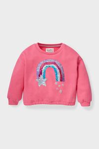 C&A Sweatshirt-Glanz-Effekt, Pink, Größe: 92