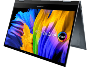 ASUS ZenBook Flip 13 OLED UX363EA-HP258T, Convertible mit 13,3 Zoll Display, Core™ i7 Prozessor, 16 GB RAM, 512 SSD, Intel Iris Xe Grafik, Pine Grey