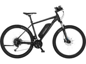 FISCHER EM 2129 Mountainbike (Laufradgröße: 29 Zoll, Rahmenhöhe: 48 cm, Unisex-Rad, 422 Wh, Schwarz)